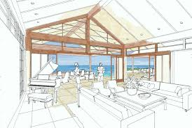 MCM DESIGN  November Designed to sit on a steep hillside overlooking the ocean  this home has large open terraces looking out to the ocean view on one side and a rich shaded
