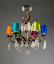 6 arm <b>antique wrought iron chandelier</b> with rock crystal drops ...