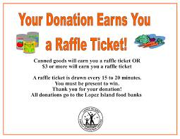 lopez island family resource center sign for raffle 2016