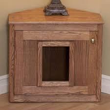amish made corner cat litterbox cabinet cat litter box covers furniture