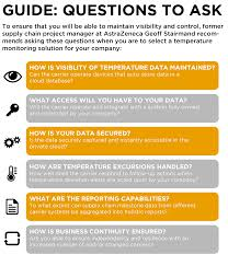 pocket guide questions to ask when outsourcing your cold chain visibility is key
