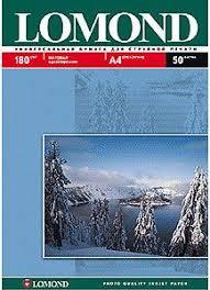 Купить <b>Фотобумага Lomond</b> 0102014 <b>A4</b>/<b>180г</b>/<b>м2</b>/50л./белый ...
