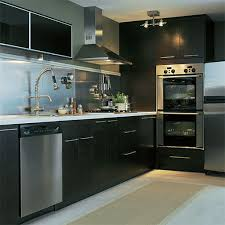 black and stainless kitchen  kitchen large size sophisticated black kitchen set with cool stainless steel backsplash and ikea dishwasher
