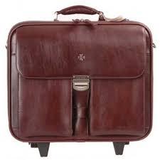 Дорожный портфель Vasheron 9806 цвета бургунди - CarryBag