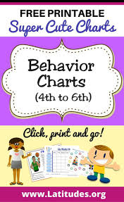 17 best images about behavior charts printable printable behavior charts for teachers students 4th 6th grade