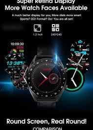 LEMFO 2019 <b>Newest</b> PPG + ECG Smart Watch Men Full <b>Round</b> ...