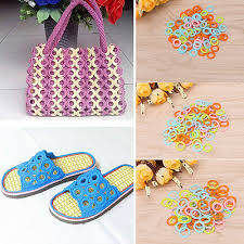 <b>100Pcs DIY</b> Crochet Ring Circle Hook Plastic Craft Tool for ...