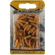<b>Заглушки</b> рамного дюбеля Element 15 мм <b>пластик</b> цвет вишня, 35 ...