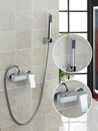 thermostatic brand bathroom: new brand bathroom wall mounted white painting with abs handle shower bathtub faucet china