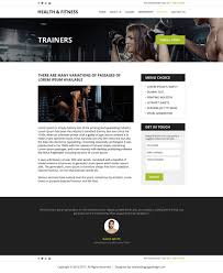 professional html website templates to create your website health and fitness html website template design inner page preview