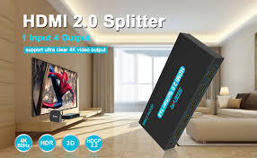 SGEYR HDMI Cable Splitter 1 in 4 Out HDMI 2.0 ... - Amazon.com