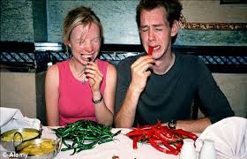 Image result for eating hot chili