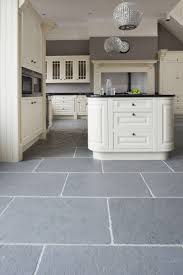 Gray Tile Kitchen Floor Kitchen Classic Grey Riven Slate Stone Mandarin For The Home