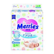 <b>Подгузники Merries S</b> (<b>4 - 8 кг</b>) 82 шт.