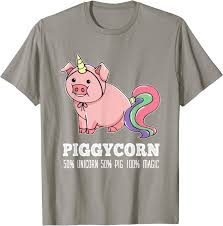 Unicorn <b>Pig T-Shirt</b> Pet Clothing, Accessories & Shoes Pet Supplies