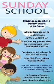 fall schedule begins st matthews lutheran church sunday school flyer 2013