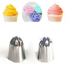 <b>TTLIFE 2 PCS</b> Large Cream Stainless Steel <b>Nozzle</b> Pastry Icing Set ...
