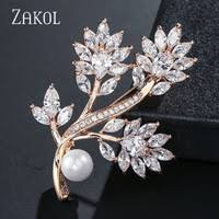 Zircon Brooch - Shop Cheap Zircon Brooch from China Zircon ...