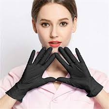 Wenfanal 10/<b>50</b>/<b>100pcs Disposable</b> Nitrile Gloves Exam Gloves ...