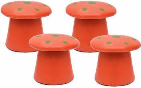 Powerpak Artificial <b>PU Leather</b> Mushroom Style <b>Ottoman Pouffe</b> ...