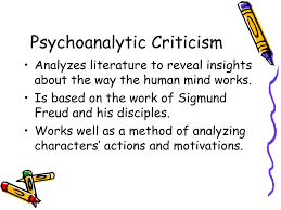 ppt theories of literary criticism powerpoint presentation id psychoanalytic criticism