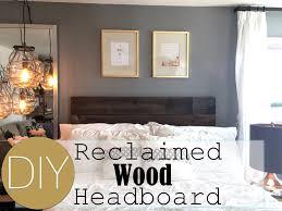 Diy Wood Headboard Diy Reclaimed Wood Headboard Small Apartment Decorating Live