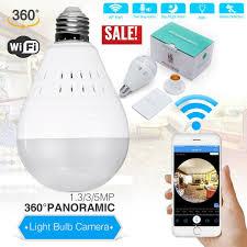 <b>HD 1080P</b> 360° Panoramic WiFi IP <b>Camera</b> Light <b>Bulb</b> Home ...