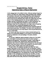 descriptive essay on a place  odolmyfreeipme descriptive essay a place of destruction gcse english marked page