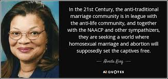 Alveda King quote: In the 21st Century, the anti-traditional ...