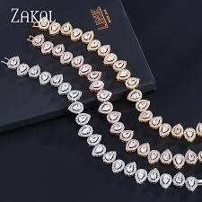 <b>ZAKOL</b> Luxury <b>Water Drop</b> Bracelets for Women Crystal Jewelry Gift ...