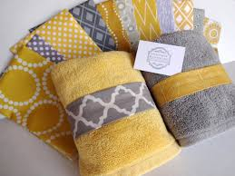 dark navy blue bath rugs: you pick custom yellow and gray towels custom grey and yellow bathroom hand towel yellow and grey bathroom yellow towel grey towel