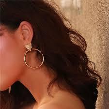 Personality <b>Exaggeration Leopard</b> Head Big Circle <b>Earrings</b> Women ...