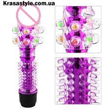 <b>Фигурный вибратор</b> с шариками <b>Фиолетовый</b>, цена 300 грн ...