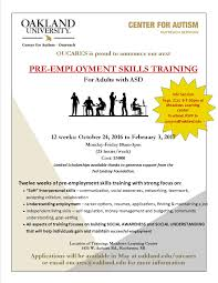 pre employment skills training for adults asd info session view flyer for