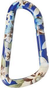 "<b>Карабин Munkees</b> ""<b>Голубой цветок</b>"", толщина 8 мм, длина 80 мм ..."