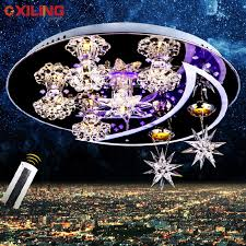 sell cheap led modern crystal ceiling lights use for living roombedroom d50cm change colour cheap bedroom lighting