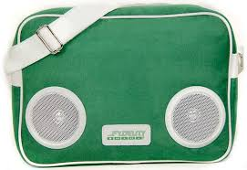 <b>Fydelity</b> Classic <b>G</b>-<b>Force Shoulder Bag</b> with Speakers Green - 1a.ee