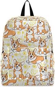 <b>Corgi Dog</b> Puppy Girls School Bag Women Backpack Shoulder ...