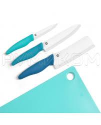 Купить <b>Набор</b> керамических <b>ножей с разделочной</b> доской Xiaomi ...