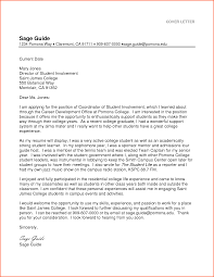 sample cover letter for resume of college student cover letter college student