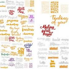 Universal Wishes <b>Words Metal Cutting</b> Dies Stencils Scrapbooking ...