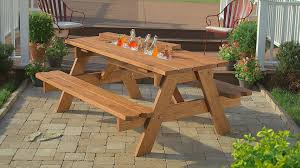 patio bench designs home interior diy outdoor wooden picnic table with cooler and benches in the patio i