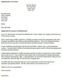 Cover Letter Examples, Template, Samples, Covering Letters, Cv ... Administrator Cover Letter Example - icover.org.uk