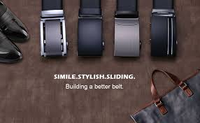 flintronic Men's Leather Belt, Automatic Buckle <b>High Quality Leather</b> ...