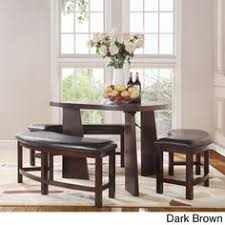 softly shaped curves triangular dining tables tribecca home paradise merlot triangle shaped  piece dining set overst