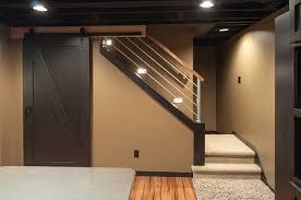 schubbe basement remodel traditional basement basement stairway lighting