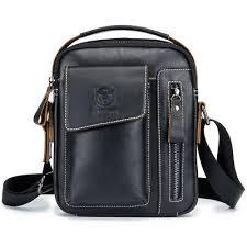 <b>Men's</b> Genuine <b>Cow Leather</b> Casual Messenger Bags <b>Cross</b>-body ...