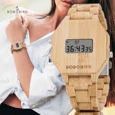 BOBO BIRD <b>Luxury Lovers</b>' Wooden Couple <b>Watches</b> Men Women ...