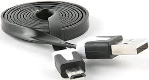 <b>Кабель Red Line Плоский</b> USB-micro USB (lite), черный купить в ...