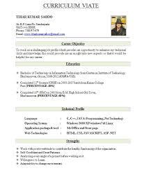 resume format for freshers freshers resume formats